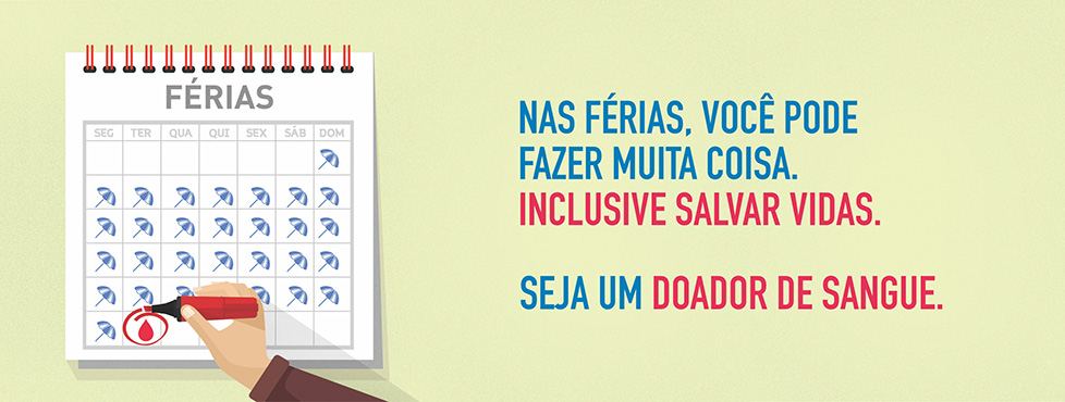 Doe sangue nas férias
